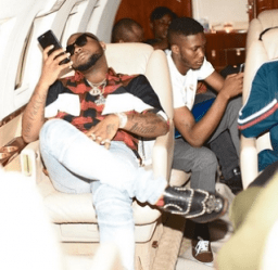 """"""" These Is Bloody """": Singer Davido Brags About His Very Expensive Red Buttoms & Shoes (Photo)"""